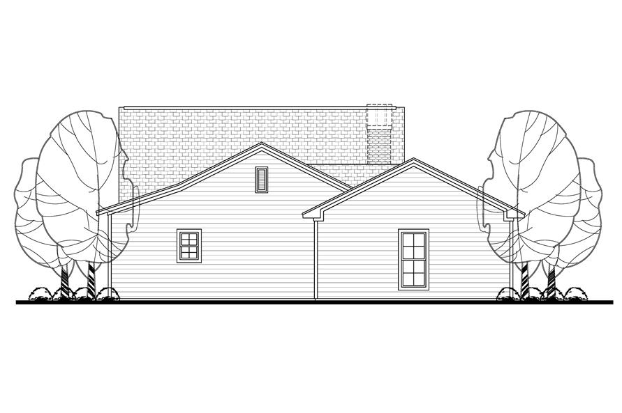 142-1143: Home Plan Rear Elevation