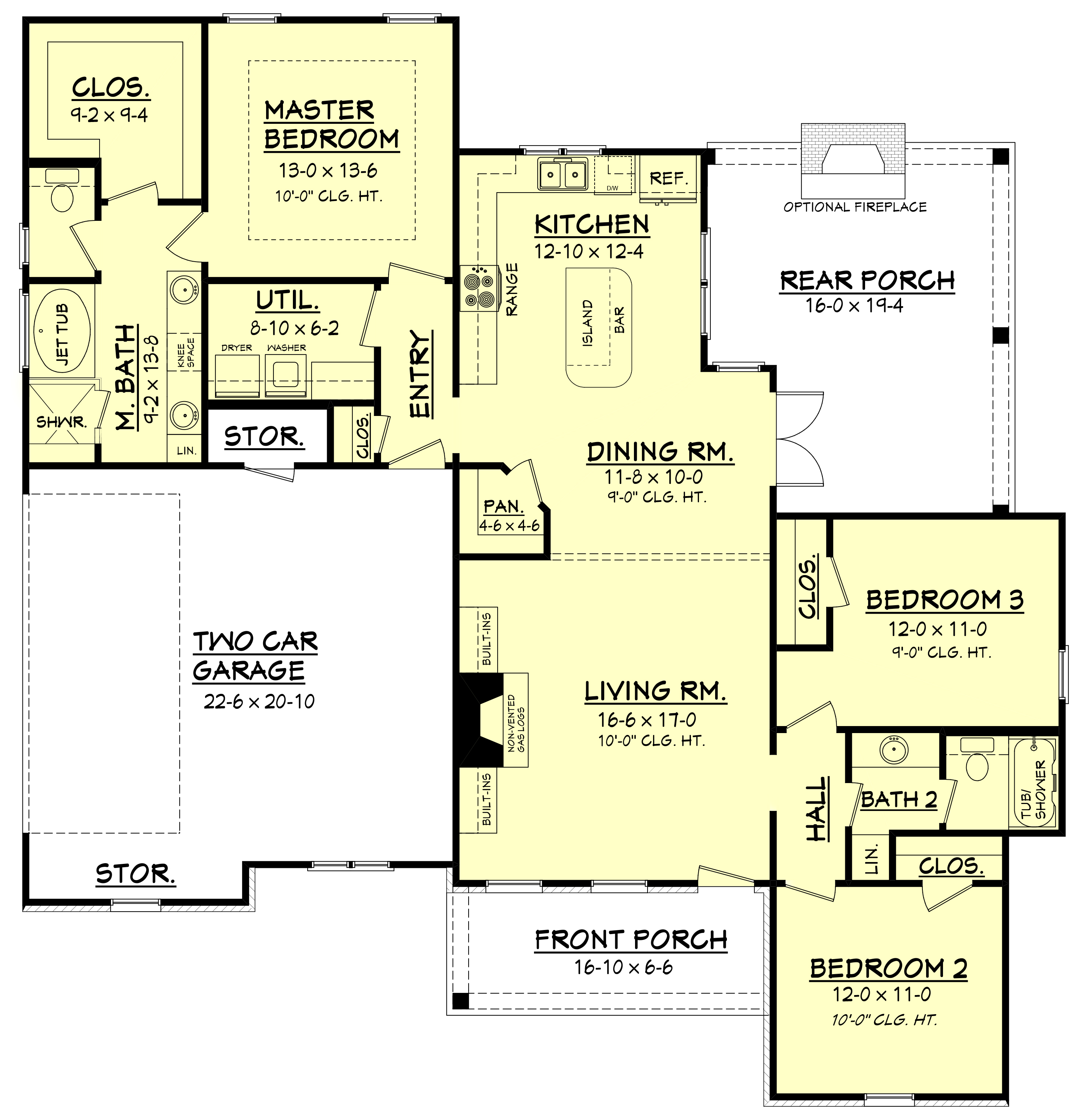 Floor Planning Tools In Asic: Craftsman House Plan #142-1144: 3 Bedrm, 1600 Sq Ft Home