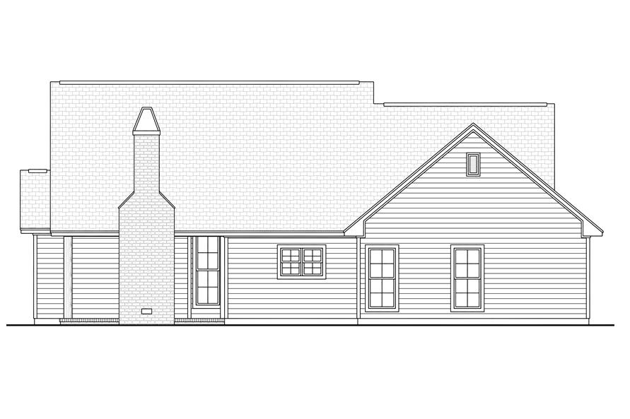 142-1144: Home Plan Rear Elevation