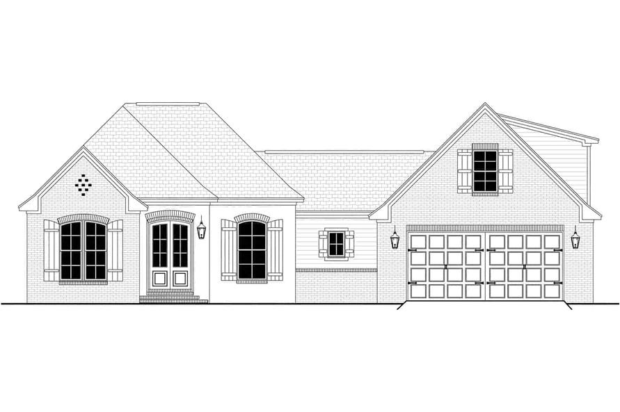 Home Plan Front Elevation of this 3-Bedroom,1884 Sq Ft Plan -142-1145