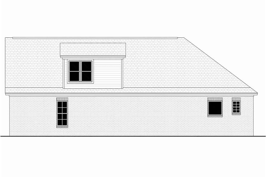 Home Plan Right Elevation of this 3-Bedroom,1884 Sq Ft Plan -142-1145