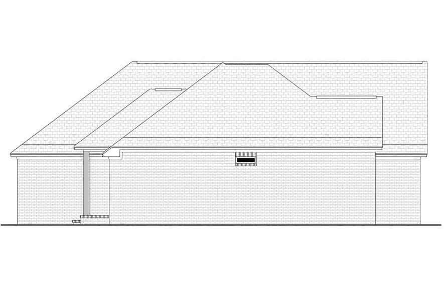 Home Plan Left Elevation of this 3-Bedroom,1884 Sq Ft Plan -142-1145