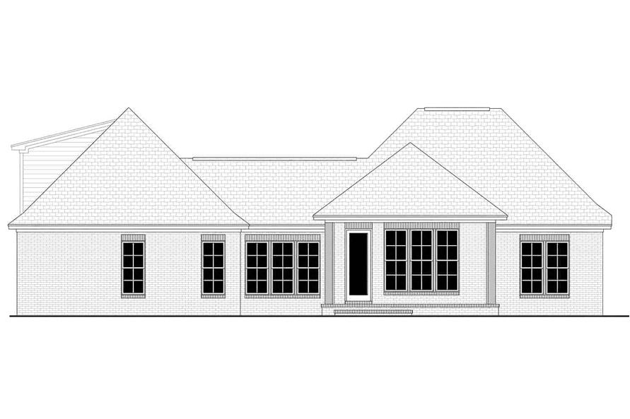 Home Plan Rear Elevation of this 3-Bedroom,1884 Sq Ft Plan -142-1145