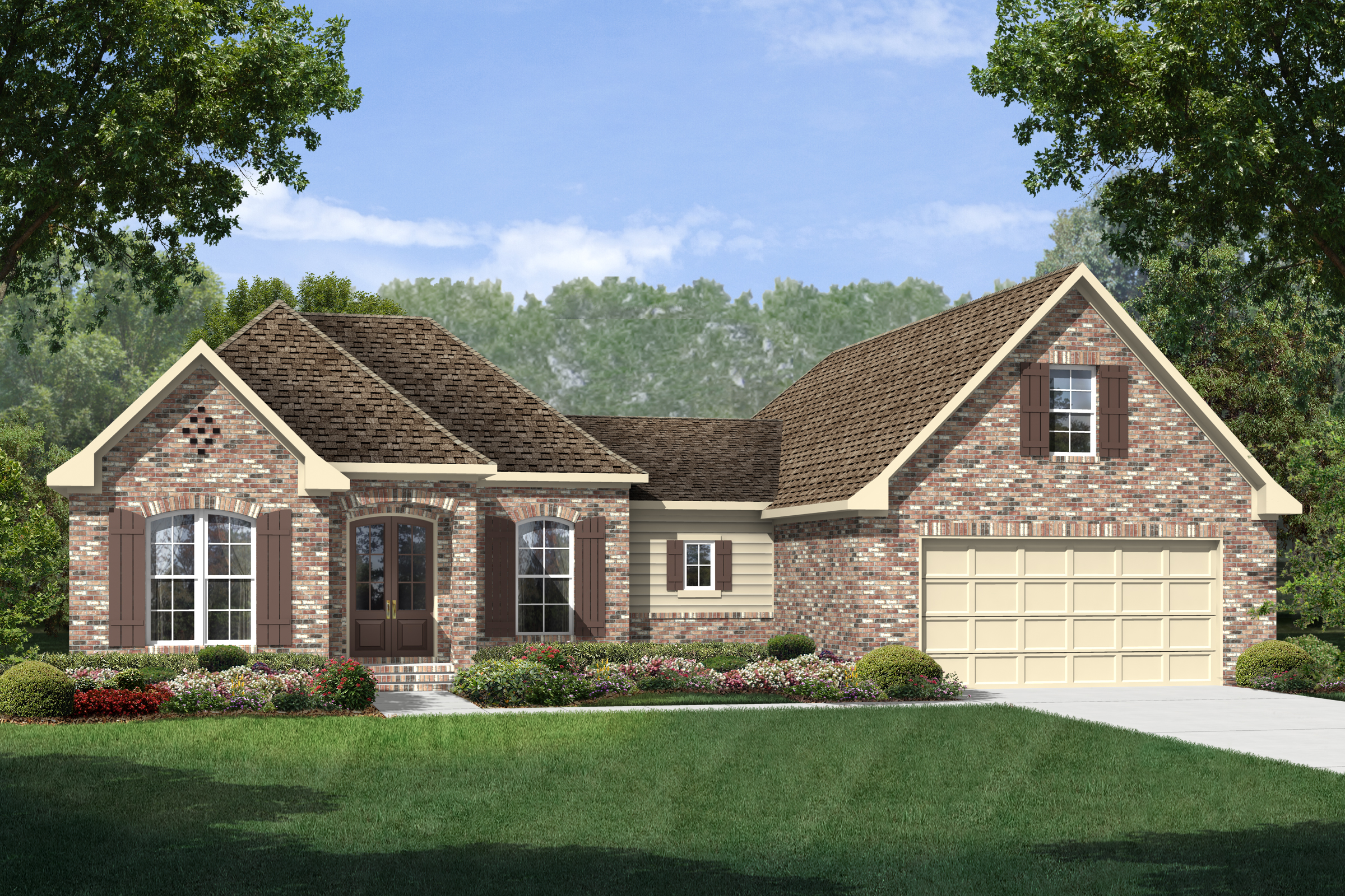 #142-1145 · Front elevation of Country home (ThePlanCollection: House Plan  #142-1145)