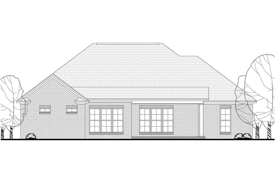 Home Plan Rear Elevation of this 3-Bedroom,1934 Sq Ft Plan -142-1146