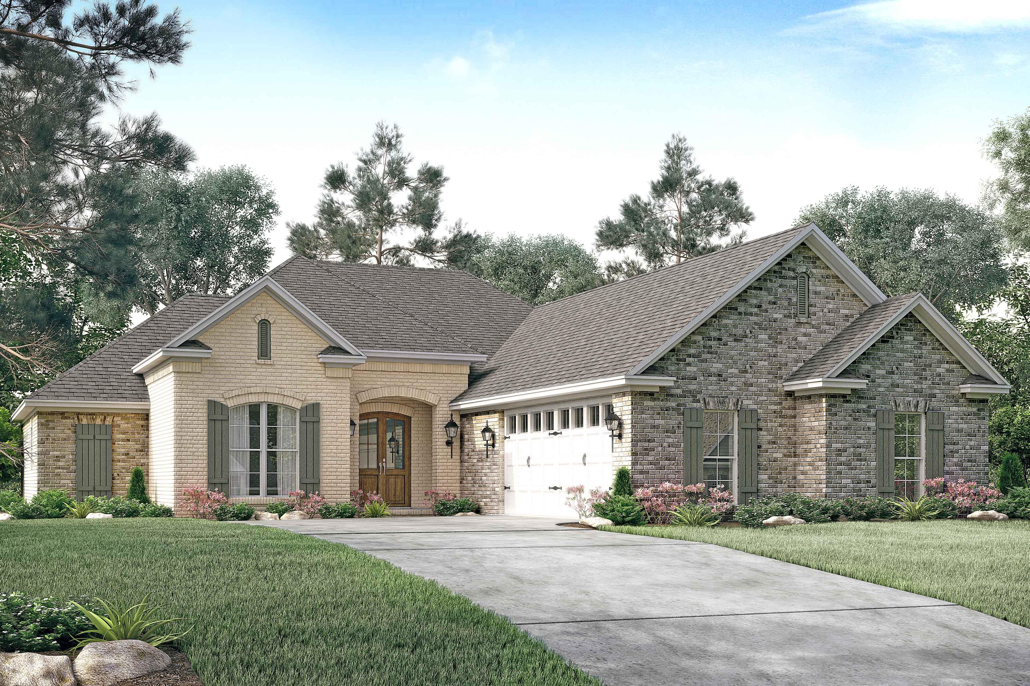 Small house plan home plan 142 -  142 1146 Front Elevation Of French Home Plan Theplancollection House Plan 142 1146