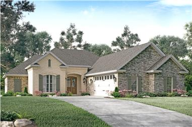 3-Bedroom, 1934 Sq Ft French Home Plan - 142-1146 - Main Exterior