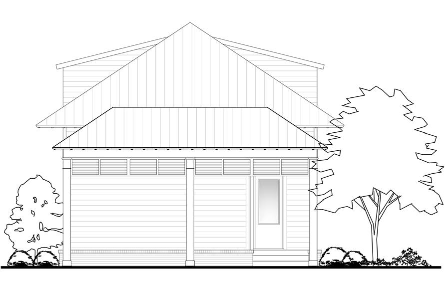 142-1147: Home Plan Rear Elevation
