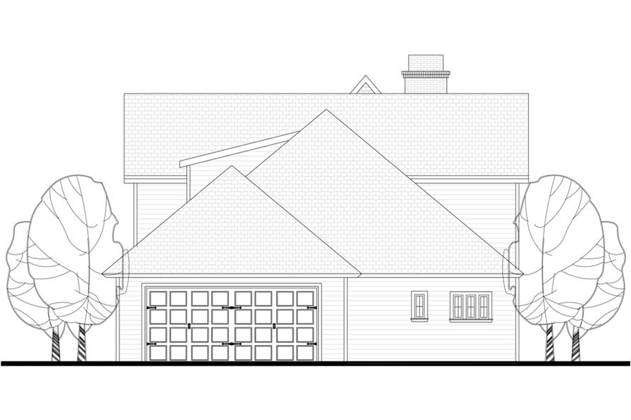 142-1148: Home Plan Rear Elevation