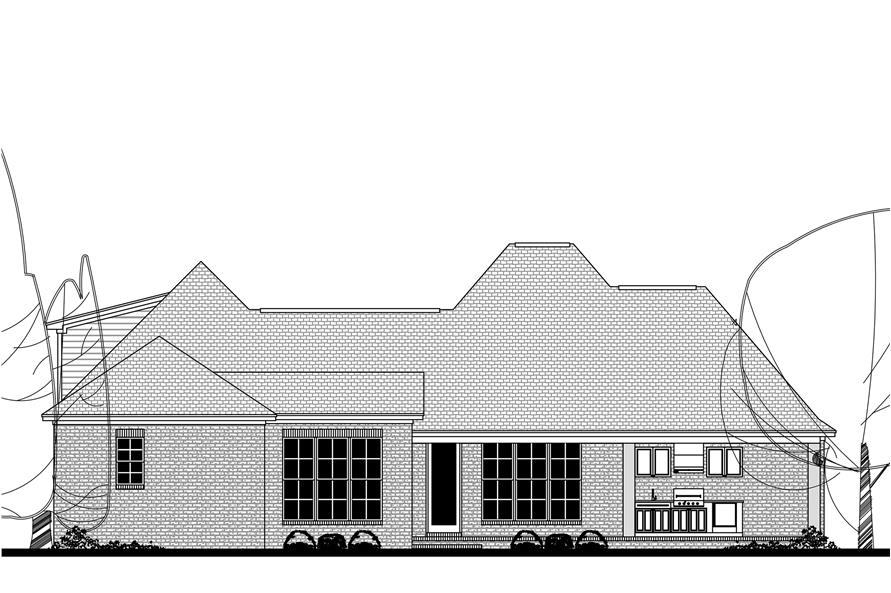 142-1149: Home Plan Rear Elevation