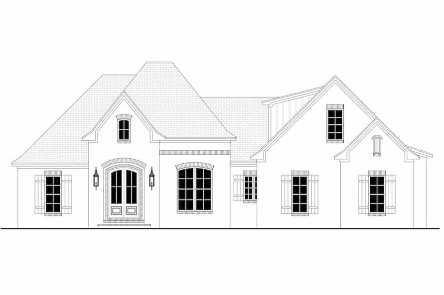 Home Plan Front Elevation of this 3-Bedroom,2405 Sq Ft Plan -142-1150