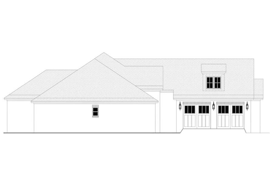 Home Plan Left Elevation of this 3-Bedroom,2405 Sq Ft Plan -142-1150