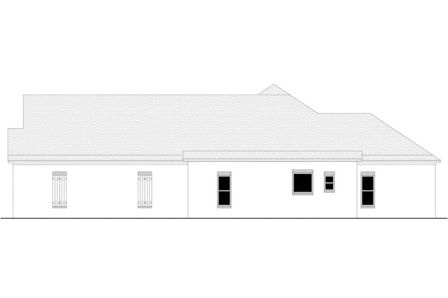 Home Plan Right Elevation of this 3-Bedroom,2405 Sq Ft Plan -142-1150