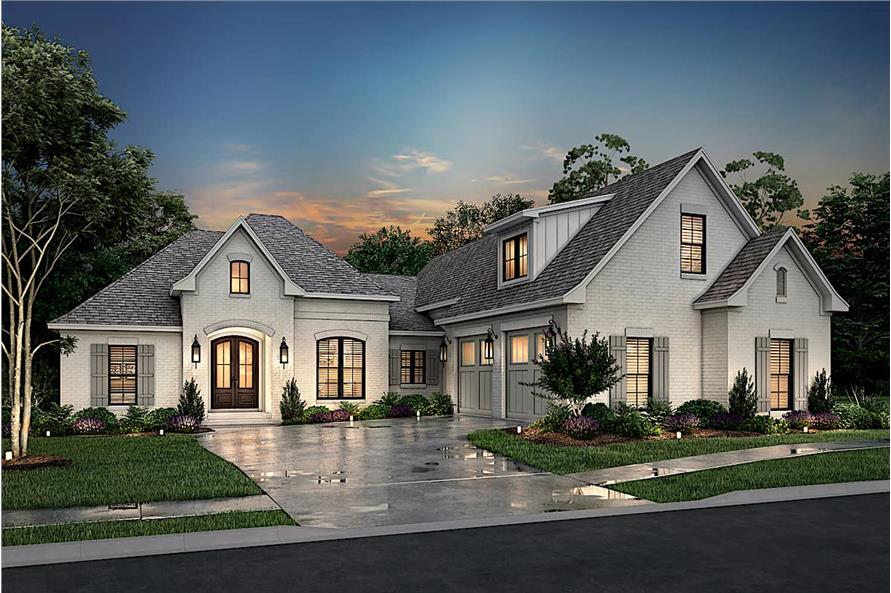 3-Bedroom, 2405 Sq Ft Ranch House - Plan #142-1150 - Front Exterior