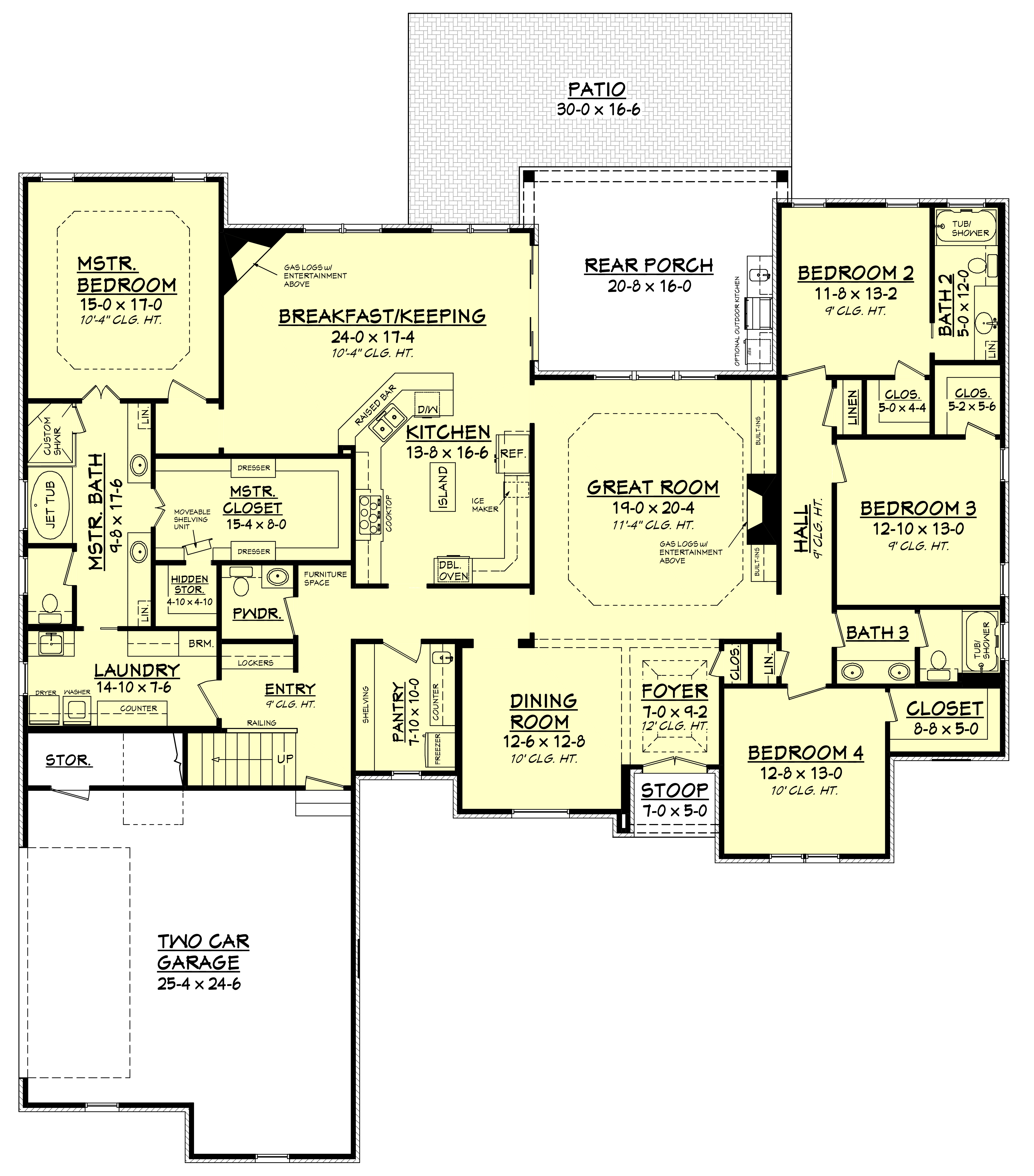 Country house plan 142 1151 4 bedrm 3287 sq ft home plan for Country home collections flooring
