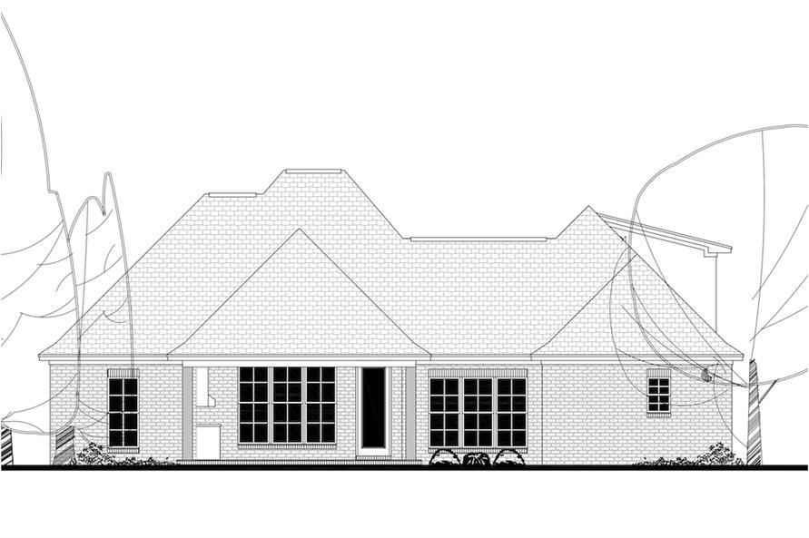 142-1152: Home Plan Rear Elevation