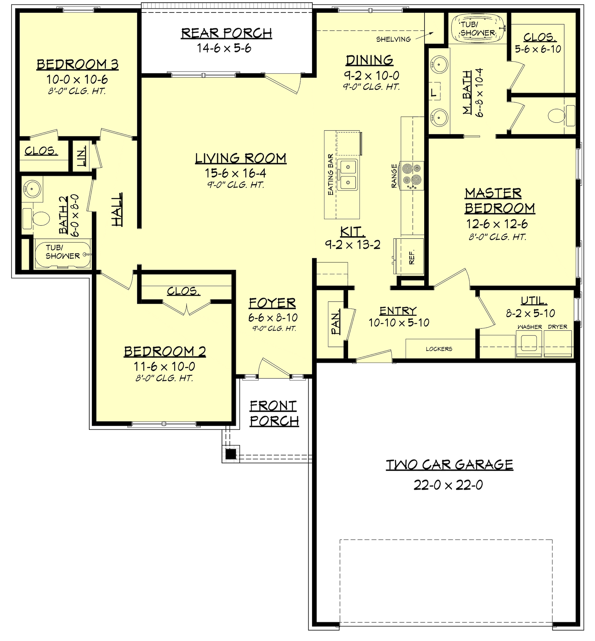 craftsman house plan 142 1153 3 bedrm 1381 sq ft home plan. Black Bedroom Furniture Sets. Home Design Ideas