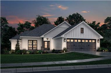 3-Bedroom, 1381 Sq Ft Craftsman Home - Plan #142-1153 - Main Exterior