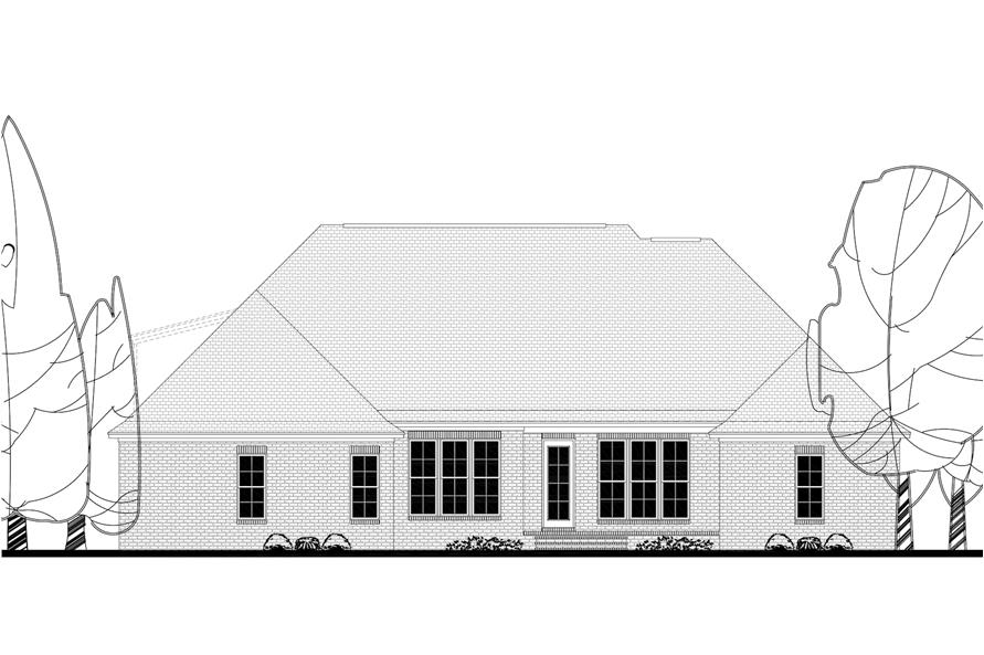 142-1154: Home Plan Rear Elevation