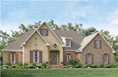 4-Bedroom, 2210 Sq Ft Acadian Home Plan - 142-1154 - Main Exterior