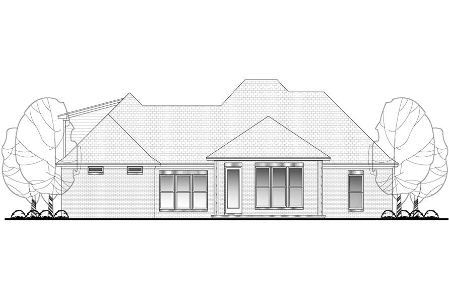 Home Plan Rear Elevation of this 3-Bedroom,1870 Sq Ft Plan -142-1155