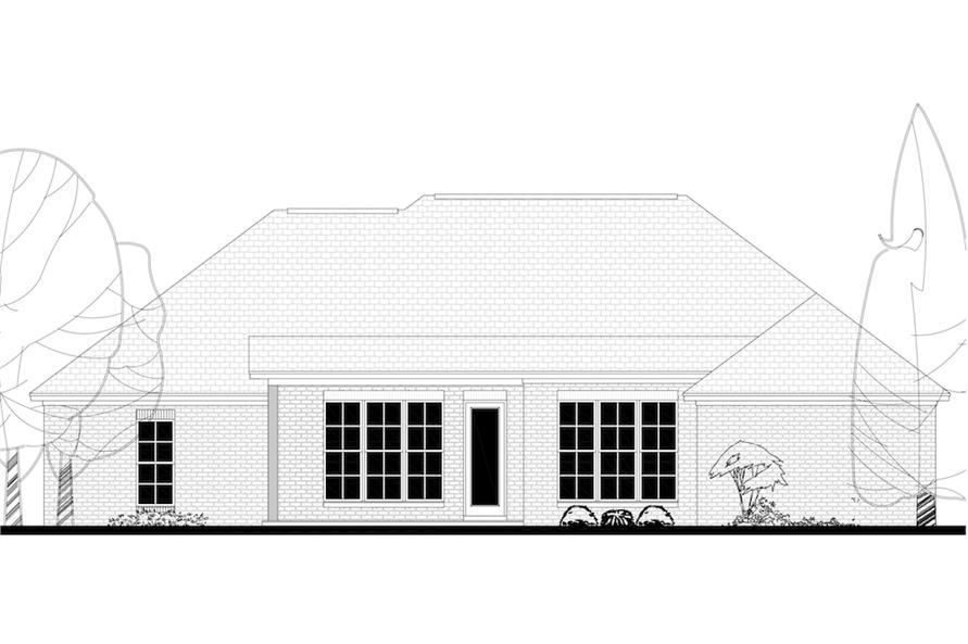 142-1156: Home Plan Rear Elevation