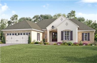 4-Bedroom, 2016 Sq Ft Traditional Home Plan - 142-1156 - Main Exterior