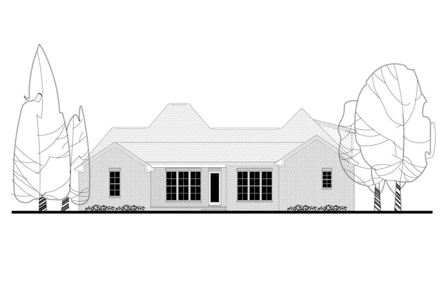 142-1157: Home Plan Rear Elevation