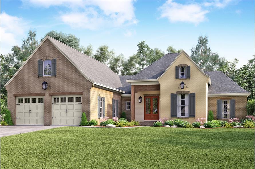 Color photograph of European home (House Plan #142-1157)
