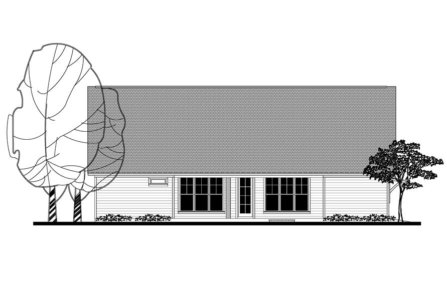 142-1158: Home Plan Rear Elevation