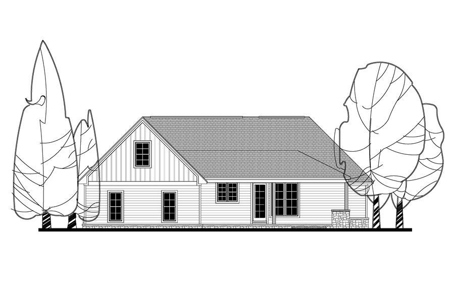 142-1159: Home Plan Rear Elevation