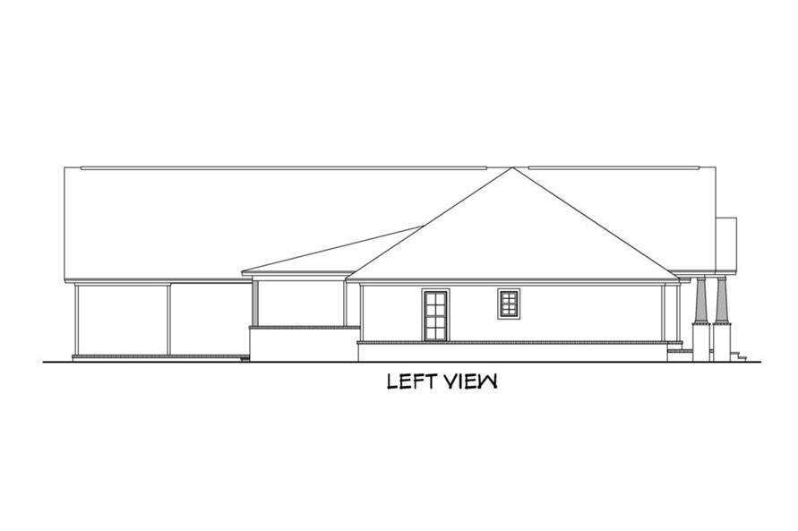 142-1159: Home Plan Left Elevation