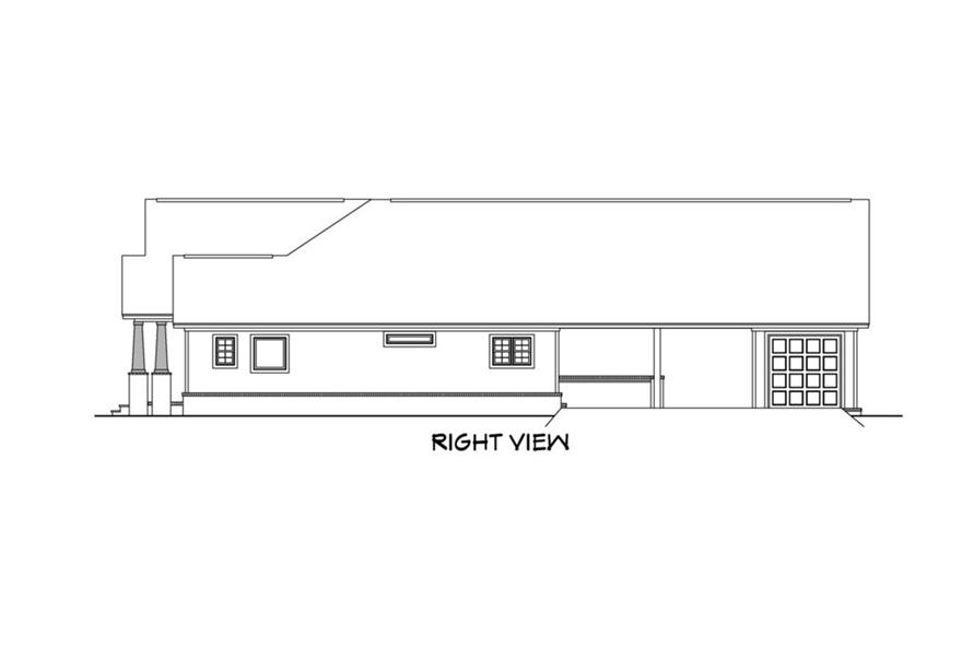 142-1159: Home Plan Right Elevation