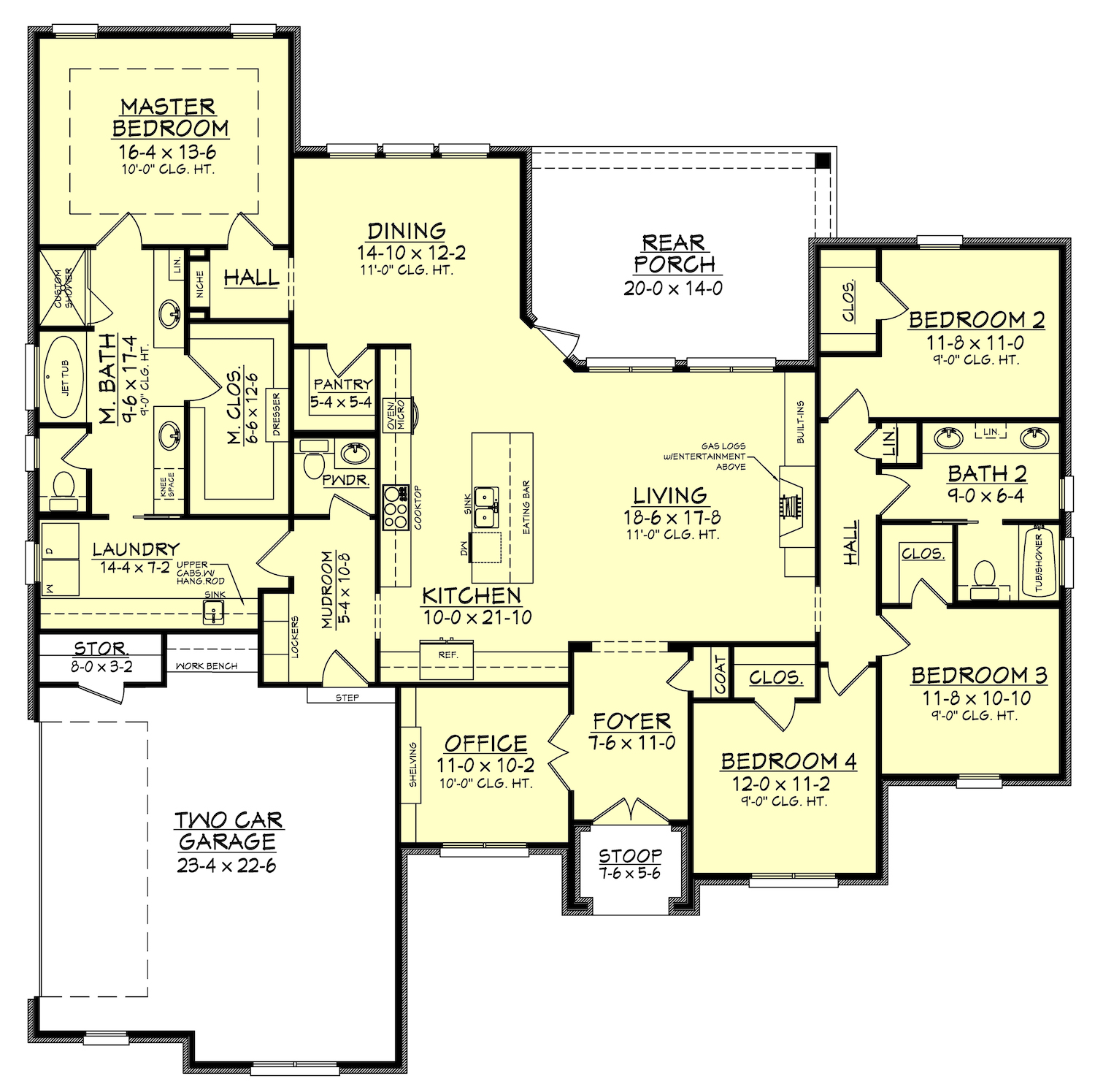 Home Design Ideas Floor Plans: 4 Bedrm, 2506 Sq Ft European House Plan #142-1162