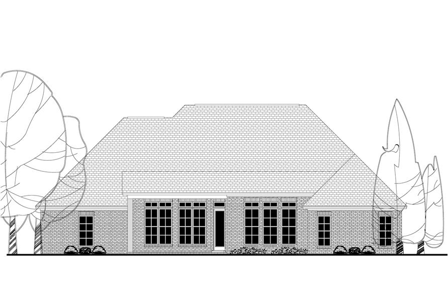 142-1162: Home Plan Rear Elevation