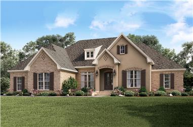 4-Bedroom, 2506 Sq Ft European Home Plan - 142-1162 - Main Exterior