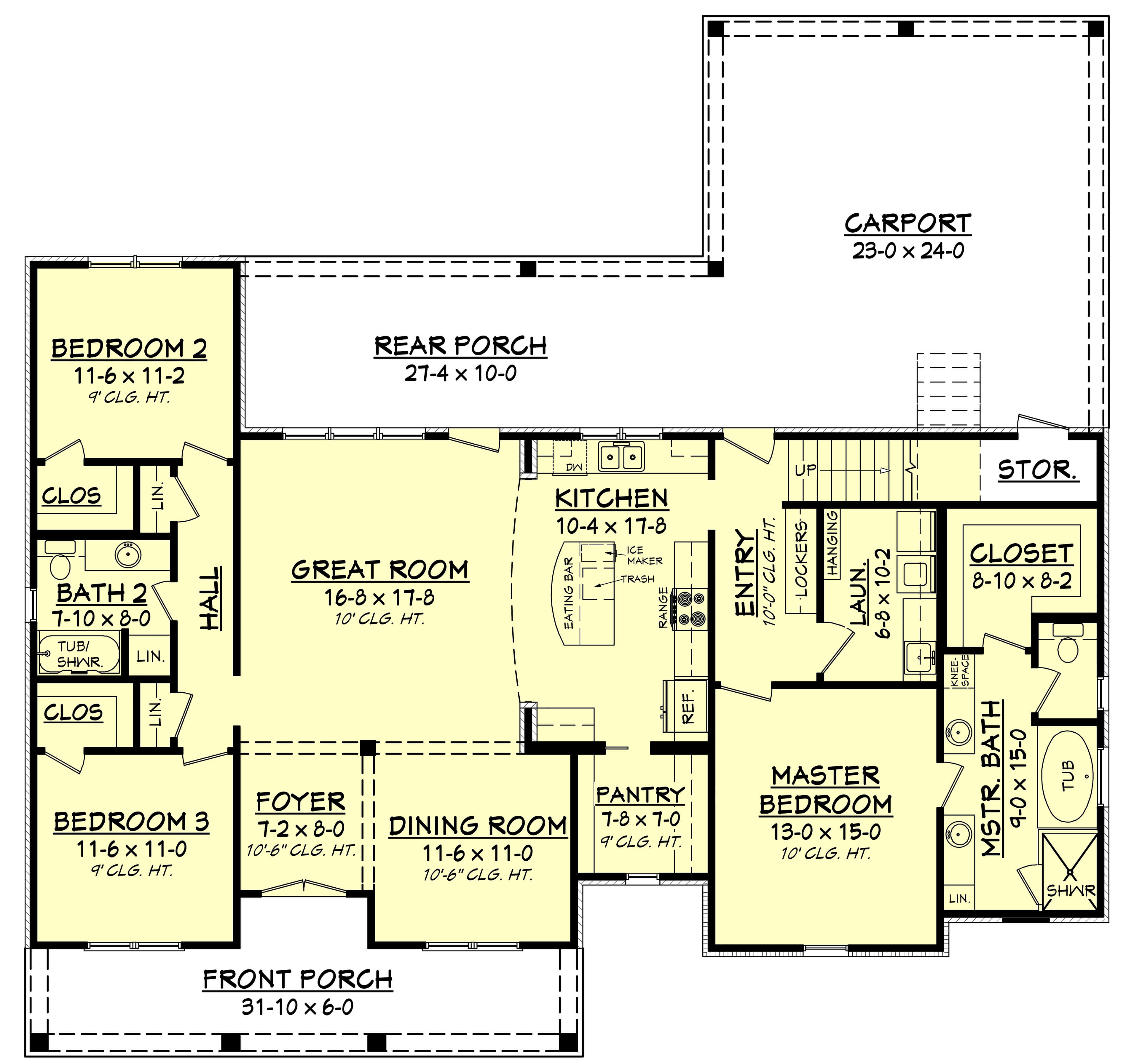 3 bedrm 1900 sq ft acadian house plan 142 1163 for Square house plans