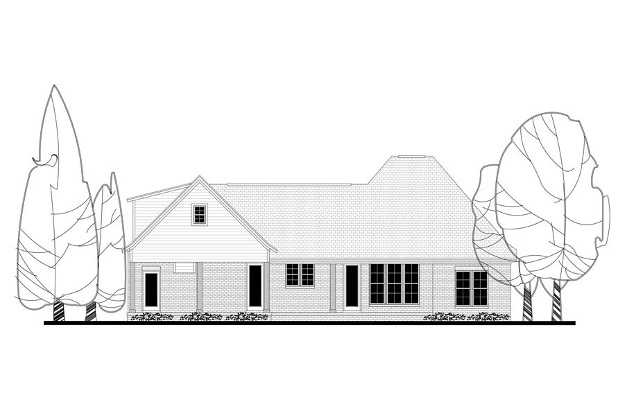 142-1163: Home Plan Rear Elevation