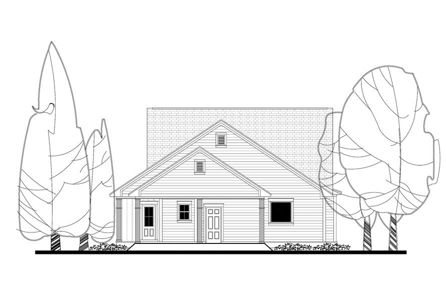 142-1164: Home Plan Rear Elevation