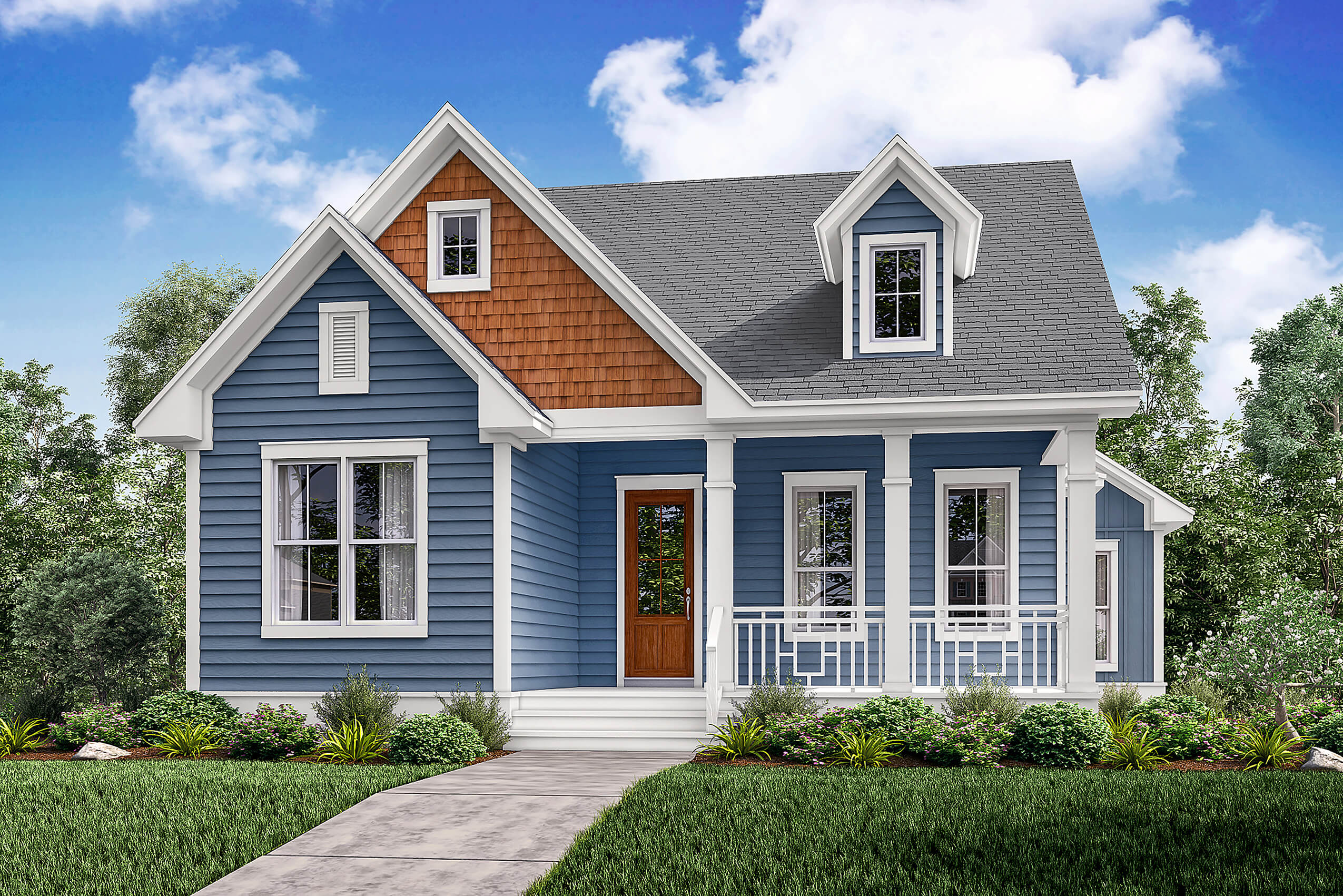 Small house plan home plan 142 -  142 1164 Front Elevation Of Craftsman Home Plan Theplancollection House Plan 142 1164