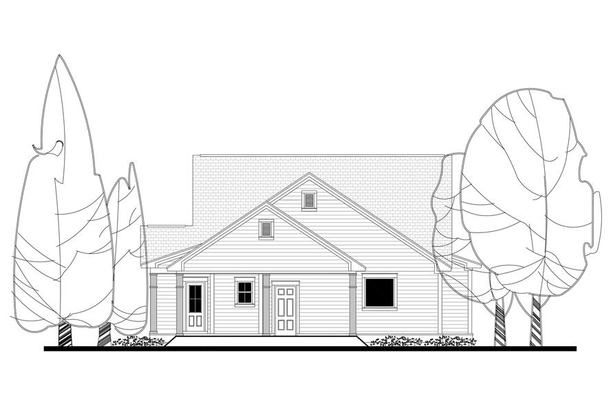 142-1165: Home Plan Rear Elevation