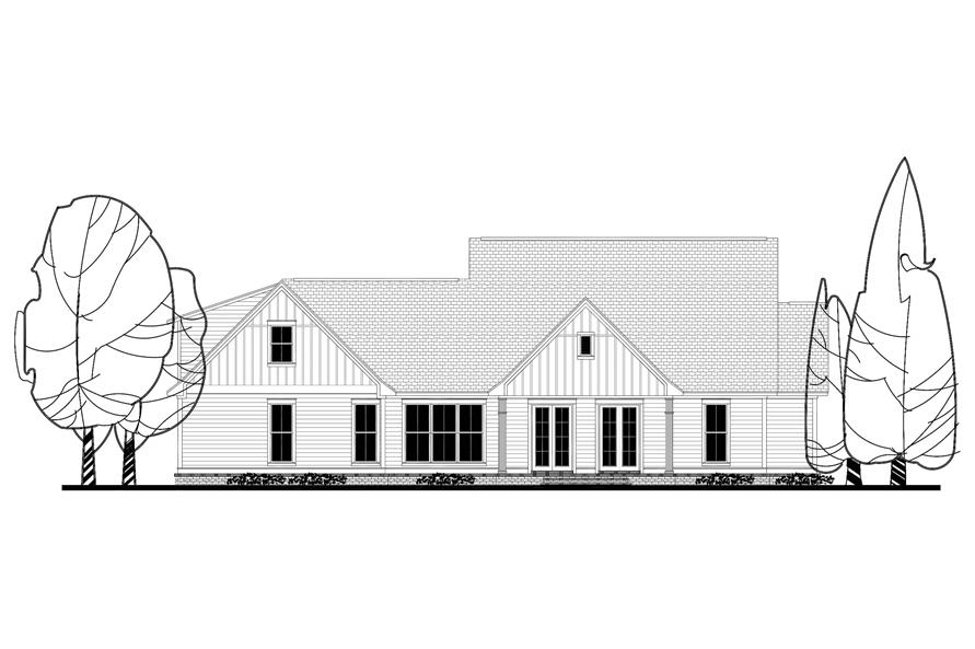 142-1166: Home Plan Rear Elevation