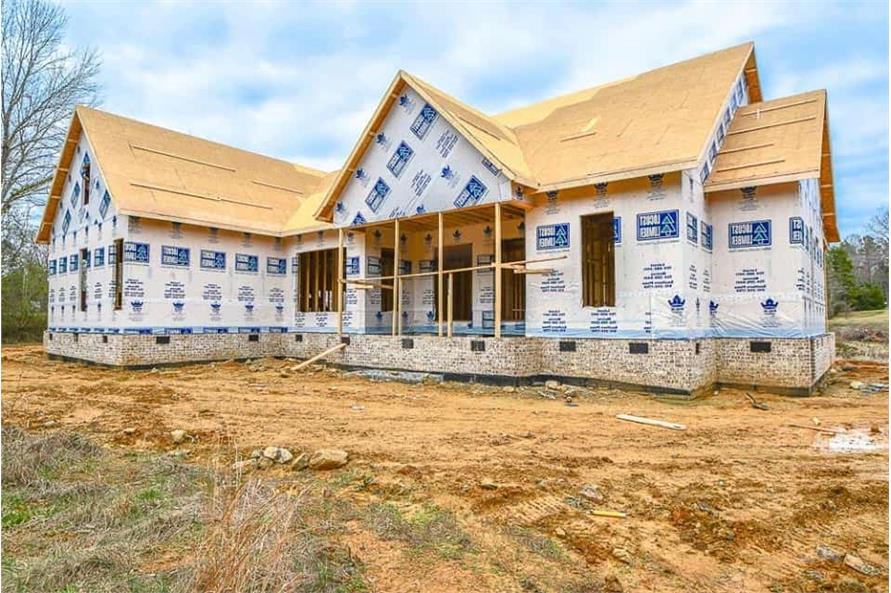 Rear View of this 3-Bedroom,2469 Sq Ft Plan -142-1166