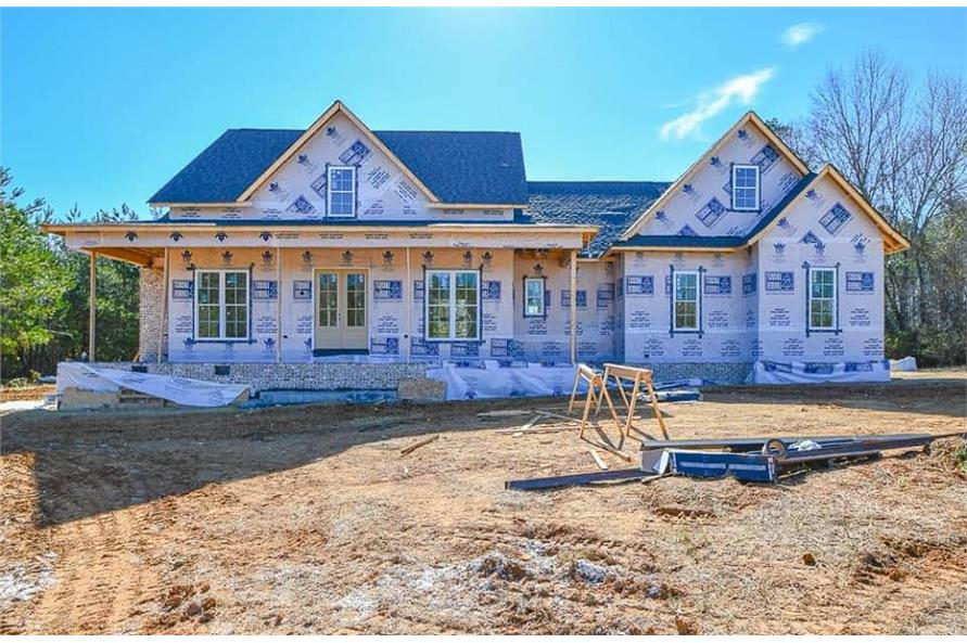 Front View of this 3-Bedroom,2469 Sq Ft Plan -142-1166