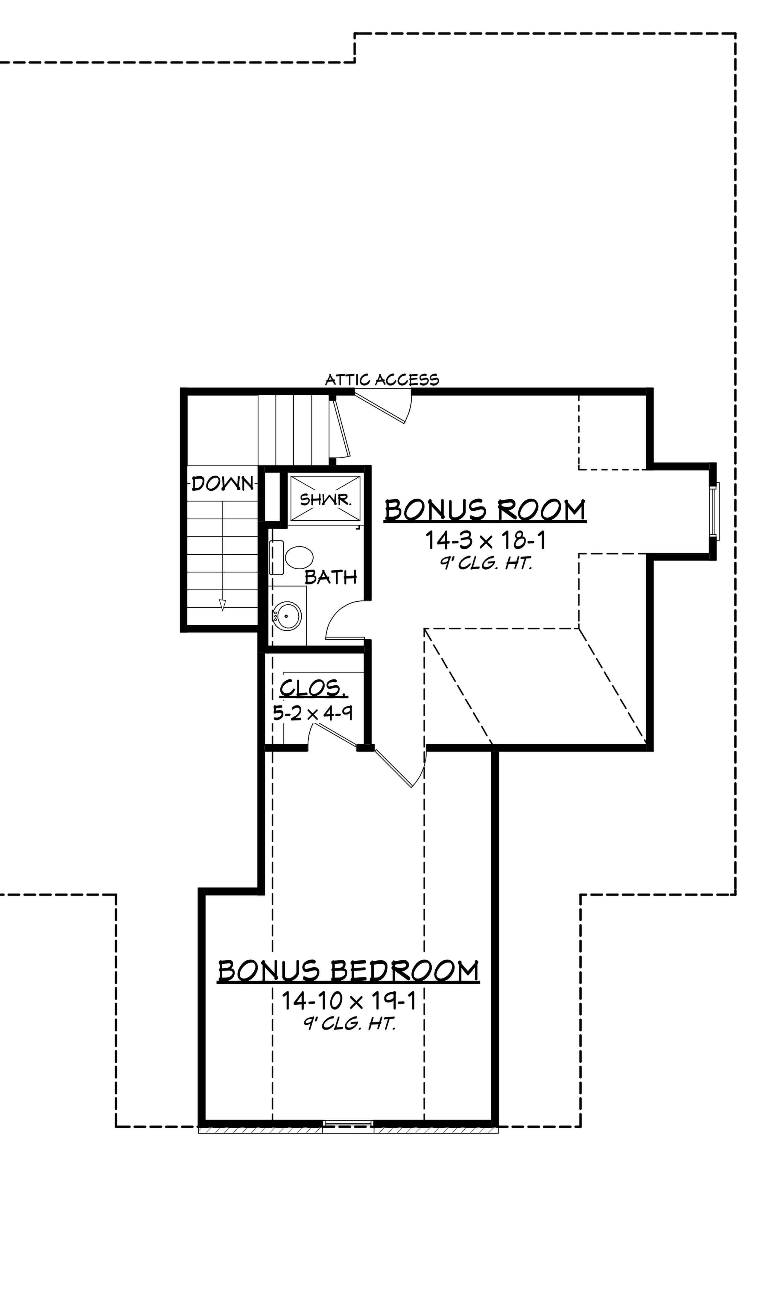 Traditional house plan with 4 bedrms 3194 sq ft 142 1167 for Floor plans with bonus room