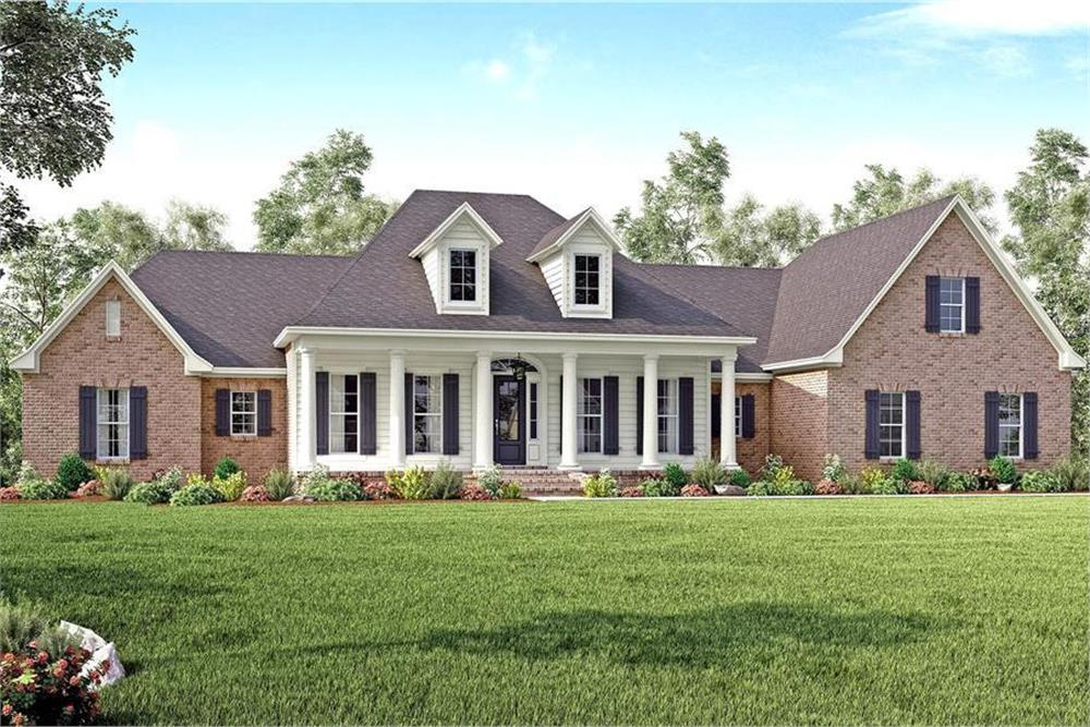 Traditional style home (ThePlanCollection: Plan #142-1167)