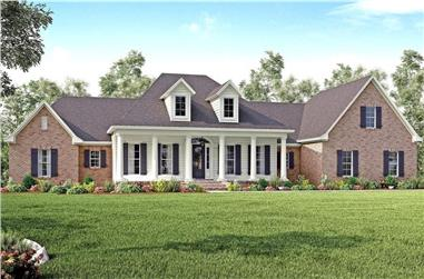 4-Bedroom, 3194 Sq Ft Traditional Home - Plan #142-1167 - Main Exterior
