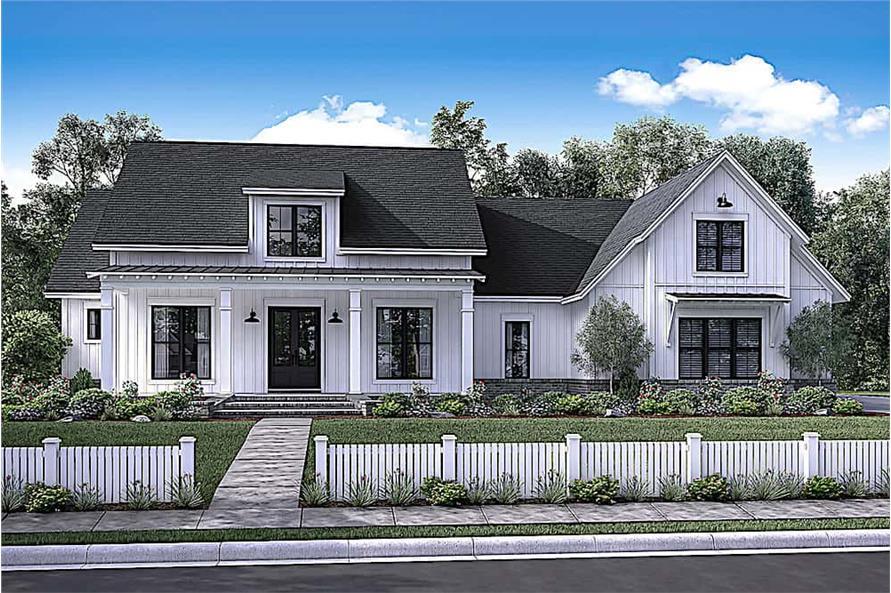 Home Plan Rendering of this 4-Bedroom,2686 Sq Ft Plan -2686