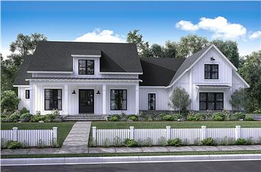 Front elevation of Country home (ThePlanCollection: House Plan #142-1169)