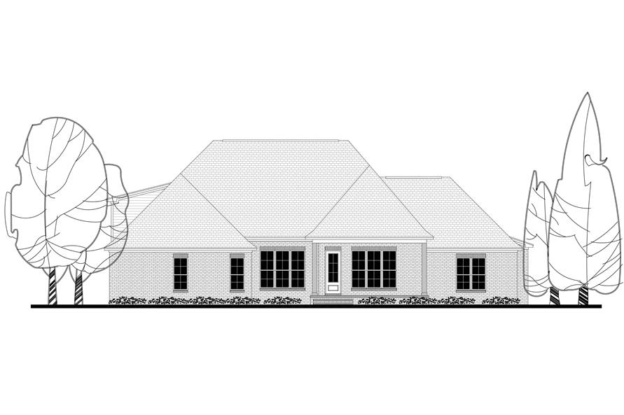 Home Plan Rear Elevation of this 4-Bedroom,2641 Sq Ft Plan -142-1170